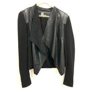 Kut from the kloth vegan leather drape front